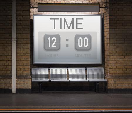 第二に時間厳守時間時間分 写真素材
