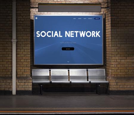 Social Media Networking Online Technology Stock fotó