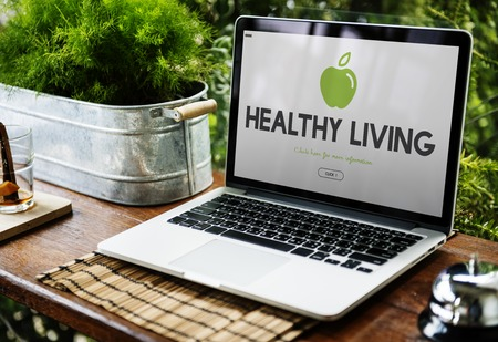 Healthy Eating Food Lifestyle Organic Wellness Word Graphic