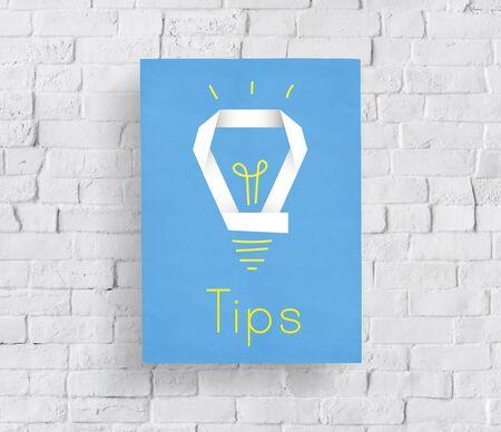 Inspiration créative Inspiration Ampoule Mot graphique Banque d'images - 82725860