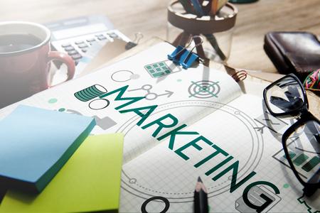 ビジネス プラン、会計マーケティング 写真素材