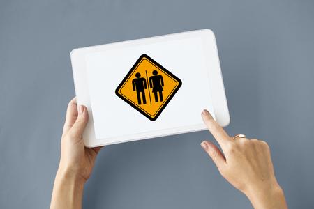 WC Toilet Restroom Women Men Sign