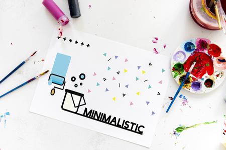 Afbeelding van creatief kunstontwerp op banner