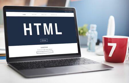 information analysis: Programming HTML Coding Technology Icon
