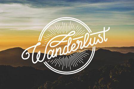 Mountain Nature Travel Explore Wanderlust Word Graphic