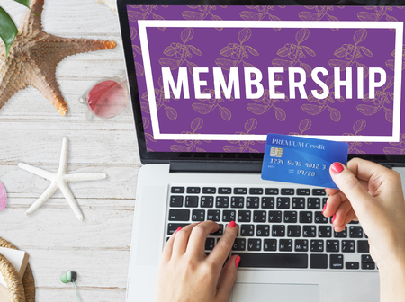 Superior  VIP Membership Top Notched Stock Photo