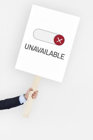 Geblokkeerd Niet beschikbaar Afhalen Toegankelijkheid Gesloten Stockfoto