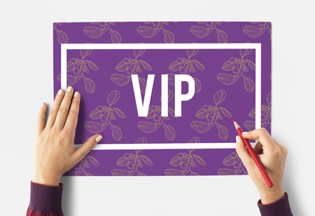 Superior Supreme VIP Membership Top Notched Stock Photo