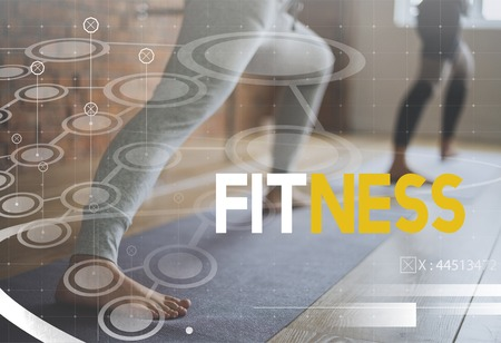 Diversity People Exercise Fitness Healthy Lifestyle Word Graphic Stock Photo