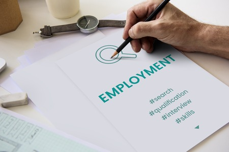 Employment Career Hiring Recruiting Conept Banco de Imagens