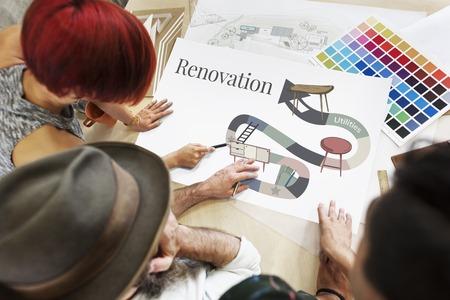 appliances: Home Repair Renovation Interior Design Concept Stock Photo