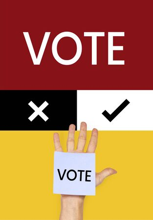 Vote concept with hand Stock Photo