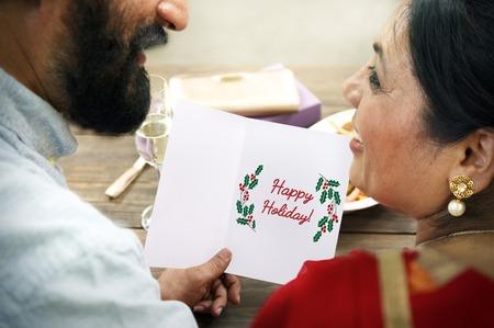 Merry Christmas Family Time Celebration Holiday Concept Фото со стока