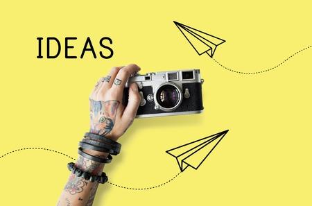 創造的なデザインの新鮮なアイデアの図 写真素材