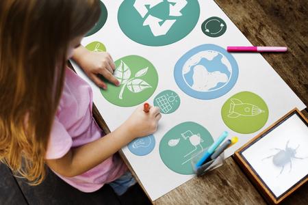 子供および環境の教育概念