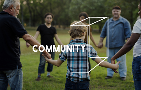 el mundo en tus manos: Community service vounteers togetherness teamwork