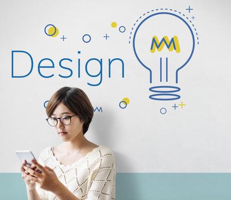 Innovation Bulb Icon Sign Symbol Banco de Imagens