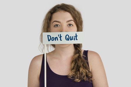 Dont Quit word young people Stok Fotoğraf