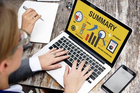 information analysis: Business corporate progress chart report