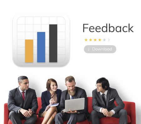 Illustration of application user feedback response Stok Fotoğraf - 82757754
