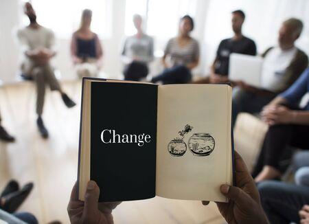 変更選択開発革命ソリューション 写真素材