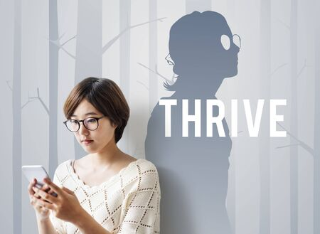Be Better Thrive Life Goes On Stock Photo
