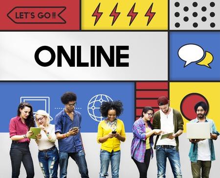 Online Communication Connection Interaction Concept Reklamní fotografie