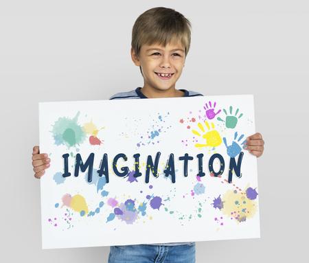 想像力創造的なアイデアの Thinkging ビジョン 写真素材