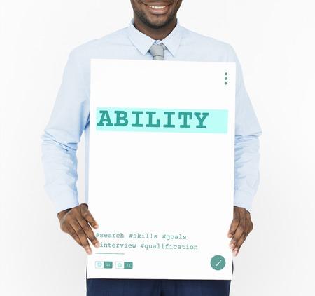 Job Career Hiring Recruitment Qualification Graphic Stock Photo