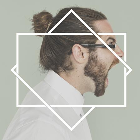 正方形四角形ボックス バナー エンブレム グラフィック