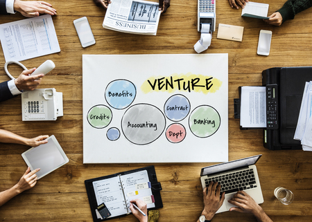 Business people with venture concept