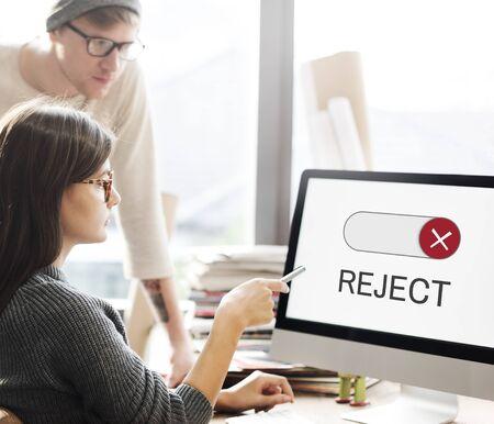 Geblokkeerd Niet beschikbaar Daling Accesibiliteit gesloten Stockfoto