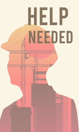 Help needed poster design 版權商用圖片 - 113822368