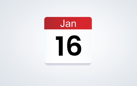 16th Jan calendar date Stock Photo