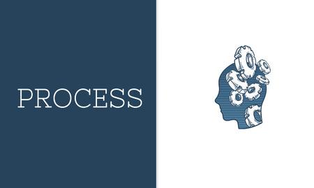 프로세스 계획 개발의 그림 스톡 콘텐츠