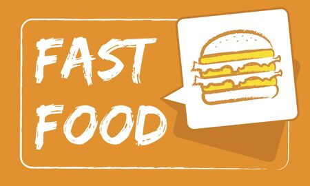Burger Fast Food Icon Graphic Stock Photo - 82883253