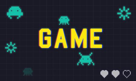 게임 놀이 엔터테인먼트 재미있는 휴식 그래픽 휴식