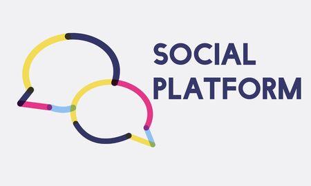 Social Media Networking Internet Technology 版權商用圖片