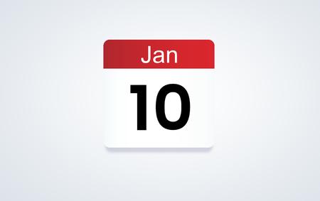 10th Jan calendar date
