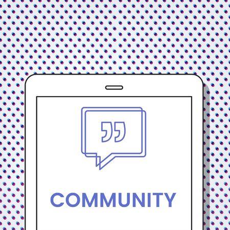 Community Speech Bubble with Quotation Mark Banco de Imagens