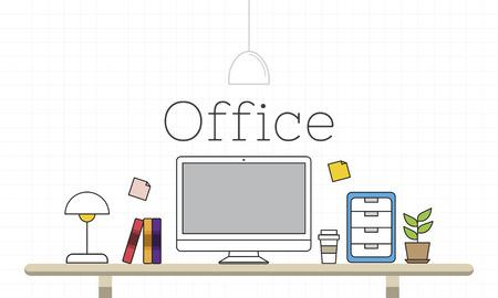 オフィス現代デスク作業場所