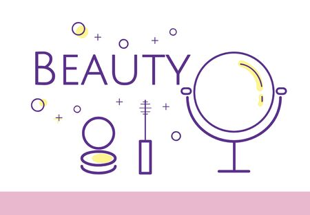 美容化粧品メイク スキンケアのイラスト