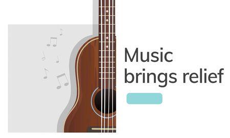 Muziek concept kaart in grafisch ontwerp