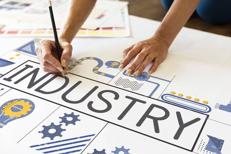 Manufacture Production Industry Ideas Concept Фото со стока