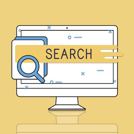 Zoeken Onderzoek Vakbegrippen Woordenschat Stockfoto