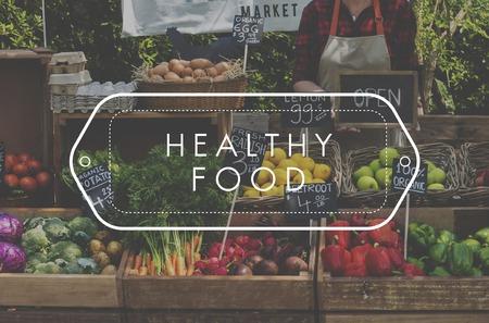 Healthy food organic fresh farmer products Stok Fotoğraf - 82839799