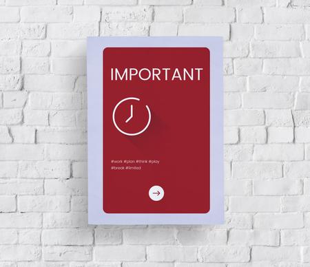 Concept de temps sur un mur de briques blanches Banque d'images - 82916934