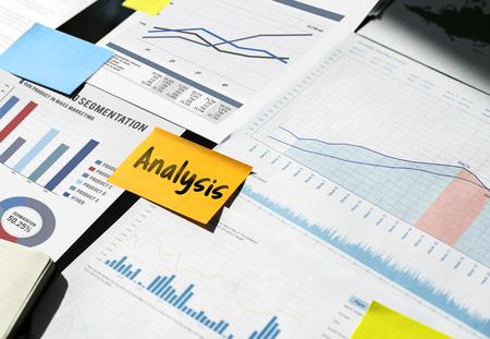 データ管理の性能グラフの概念 写真素材