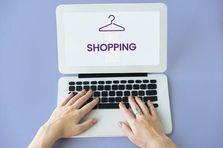 Illustration of fashionista online shopping store