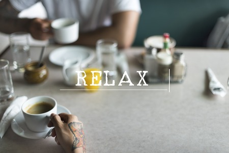 grabing: Take Break Chilling Relaxation Concept